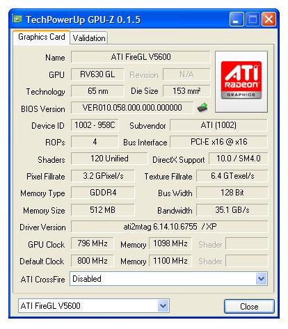 ATI FireGL V5600 512 MB